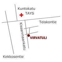 Hoitola Virvatuli opaskartta